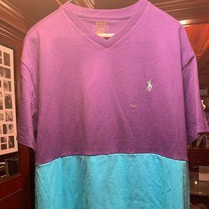 Polo Ralph Lauren T Shirt V neck Custom Split